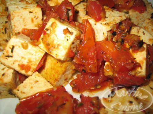 Poêlée de tofu aux tomates